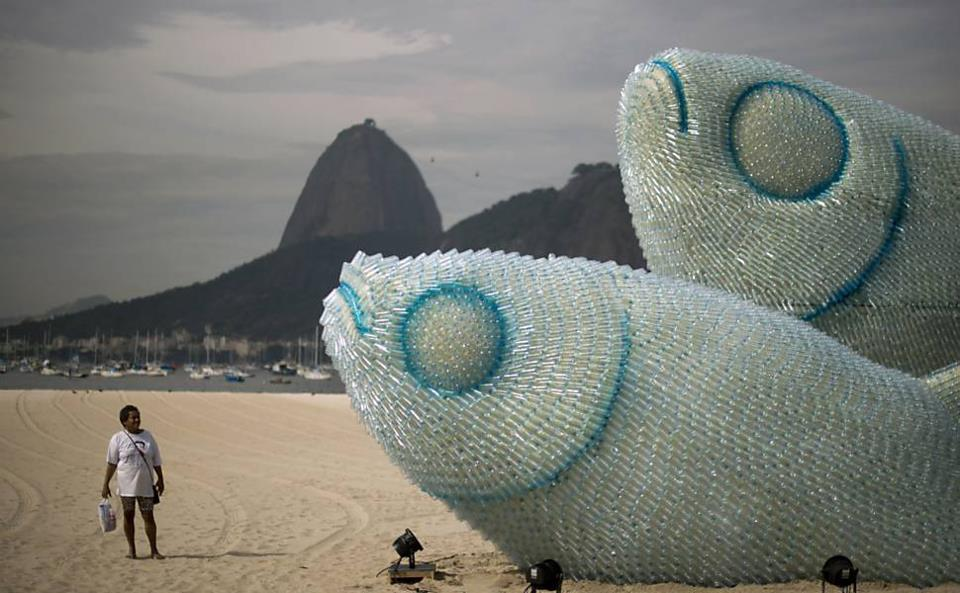 An absolutely remarkable plastic creation set up in Rio De Janeiro ...